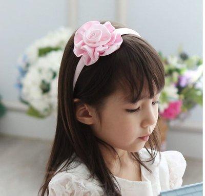 ~俏寶貝 ~新竹 店面~兒童髮圈 女童粉色閃鑽花朵髮圈 兒童髮箍髮飾頭飾 花童髮圈禮服 拍照