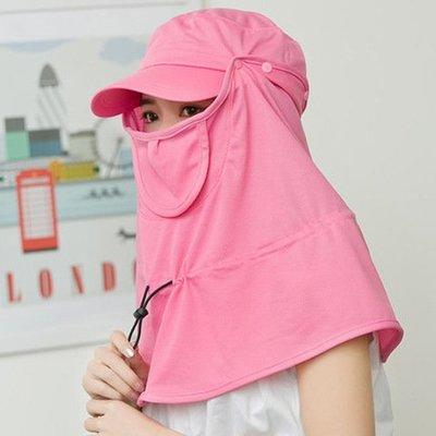 夏季冰絲防曬面罩護全臉可拆卸防紫外線騎行頭套護頸透氣防曬口罩