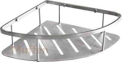 『MUFFEN沐雰衛浴』YB-101C 304不鏽鋼 不銹鋼 轉角 三角 置物網籃 置物架 加大 26x26x7cm