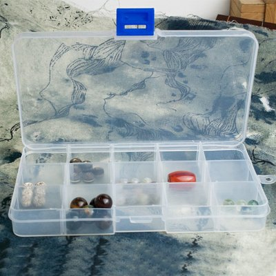 hello小店-首飾收納盒 透明散珠收納盒歸類盒 DIY小配件分類盒子塑料盒#線#彈力繩#穿珠線#