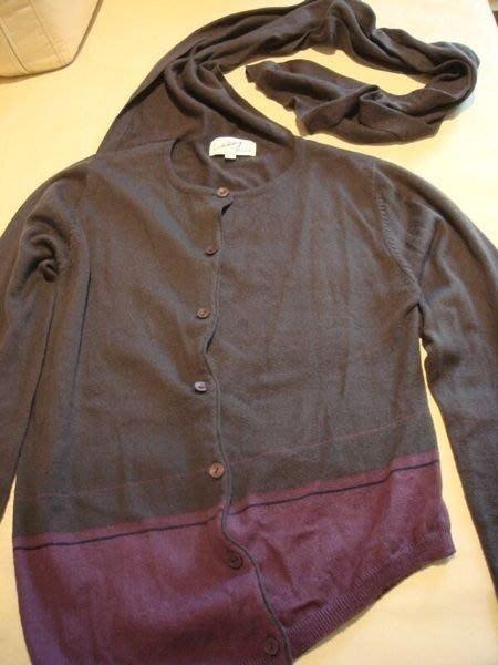 出清大降價!香港設計師, 美利諾毛料毛衣外套兼圍巾,質感與色彩都超讚的!低價起標無底價!本商品免運費!