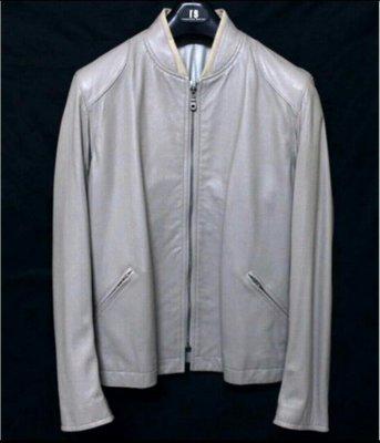 日本品牌TABLOID NEWS 柔軟羊皮立領騎士皮衣真皮