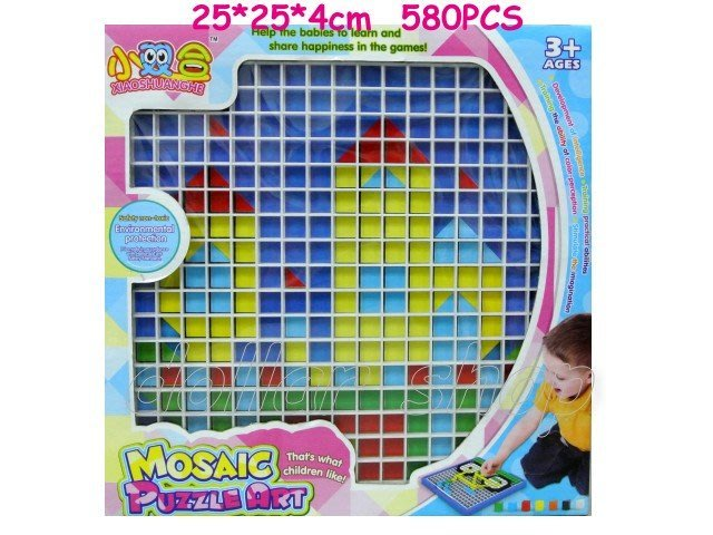 寶貝玩具屋二館☆【教具】邏輯進階益智遊戲---藝術馬賽克拼圖盒580PCS