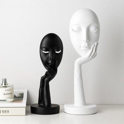 賓士印象~個性家居飾品樹脂抽象人臉擺件簡約現代客廳壁柜電視柜裝飾擺設