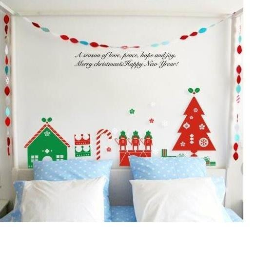 小妮子的家@聖誕快樂家園壁貼/牆貼/玻璃貼/磁磚貼/汽車貼/家具貼