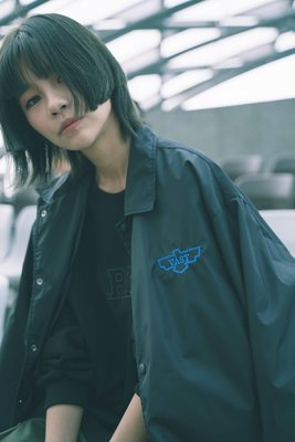 ☆LimeLight☆ VAST 18F/W RIOT EMBRIIDERY COACH JACKET 風衣外套 黑/綠
