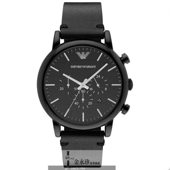 金永珍珠寶鐘錶* ARMANI錶 原廠真品 經典三眼計時 AR1918對錶 生日 情人節禮物 送鍍膜*