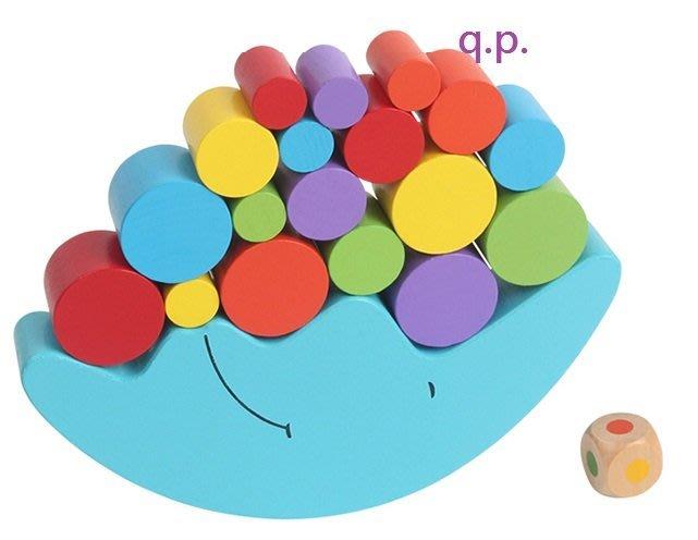 現貨 小孩嬰幼兒童益智遊戲 木製玩具 立體圓弧造形木塊堆疊塔 積木不倒翁疊疊樂眼手協調平衡訓練 木質月亮模型寶寶生日禮物