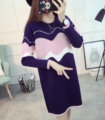 2018新款孕婦裝新款針織衫裙打底衫連衣裙孕婦毛衣中長款 預購款