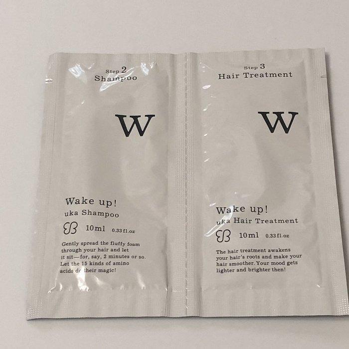 【化妝檯】 UKA  甦醒!洗髮露 10ml + 調理乳10ml 試用包 效期2020.07 台灣專櫃 中文標