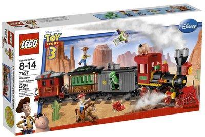 2010年絕版品【LEGO 樂高】全新正品 益智玩具 積木/ 玩具總動員 西部列車追逐 胡迪 巴斯光年 翠絲 7597