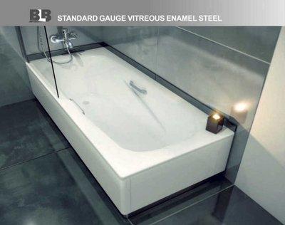 葡萄牙頂級琺瑯塘瓷鋼板浴缸150/160/170CM