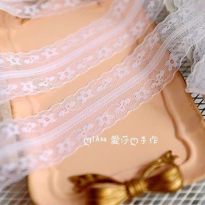 『ღIAsa 愛莎ღ手作雜貨』(90cm)日產漂白色小蕾絲花邊娃娃DIY併布料輔寬4cm