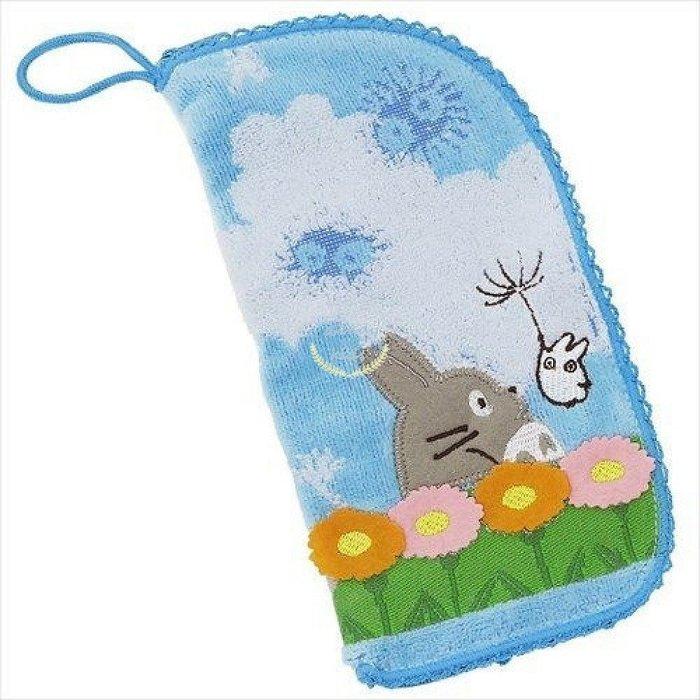 日本 龍貓 POUCH 毛巾袋 拉鍊包 化妝包 收納袋 手帕 手機包 水瓶袋
