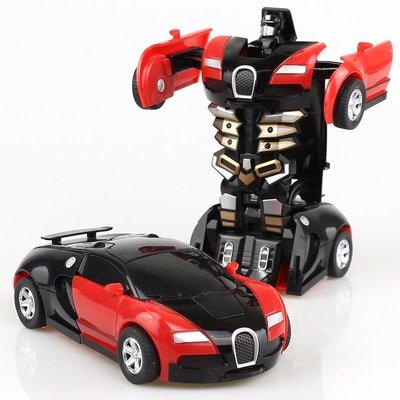 變形玩具金剛5 兒童男孩大黃蜂一鍵慣性撞擊PK汽車機器人非遙控XSJD13119