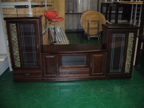 樂居二手家具館 胡桃實木電視櫃高低酒櫃 書櫃 TV櫃 矮櫃 全新家具批發拍賣茶几 沙發