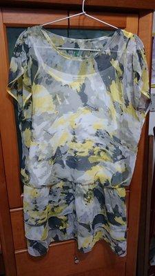 專櫃Five pence五個銅貨 目錄款假兩件長版連衣裙 (尺寸: 40)