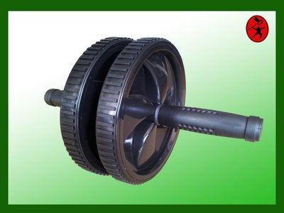力大 器材~寬型雙輪式健美輪「健腹輪」lt2c.001練腹肌的好工具另售跪墊.握力棒.跳繩