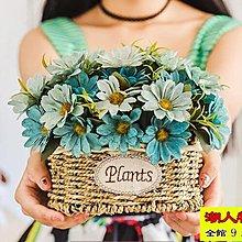 客廳臥室仿真花裝飾花擺件婚慶茶幾塑料干花假花絹花客廳盆栽套裝【潮人物語】