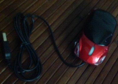 全新紅色跑車造型滑鼠