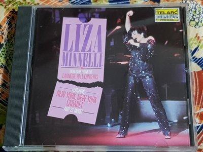 R西洋女(二手CD)LIZA MINNELLI HIGHLIGHTS HALL CONCERT~美版~無ifpi~(字)