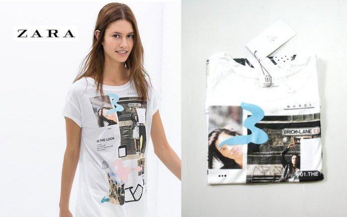 。simple。ZARA 最新款 T恤 白色短袖T恤 TRF現貨在台 特價出清 (S號)