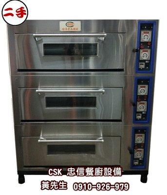 二手-銓麥三層六盤電烤箱/烘培烤箱/商用烤箱/
