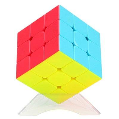 奇藝魔方格二階三階四階五階魔方彩色實色魔方免貼紙順滑比賽專用