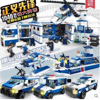 『格倫雅品』軍事5拼裝積木10城市警察系列玩具兒童益智男孩子6-8歲12兼容樂高