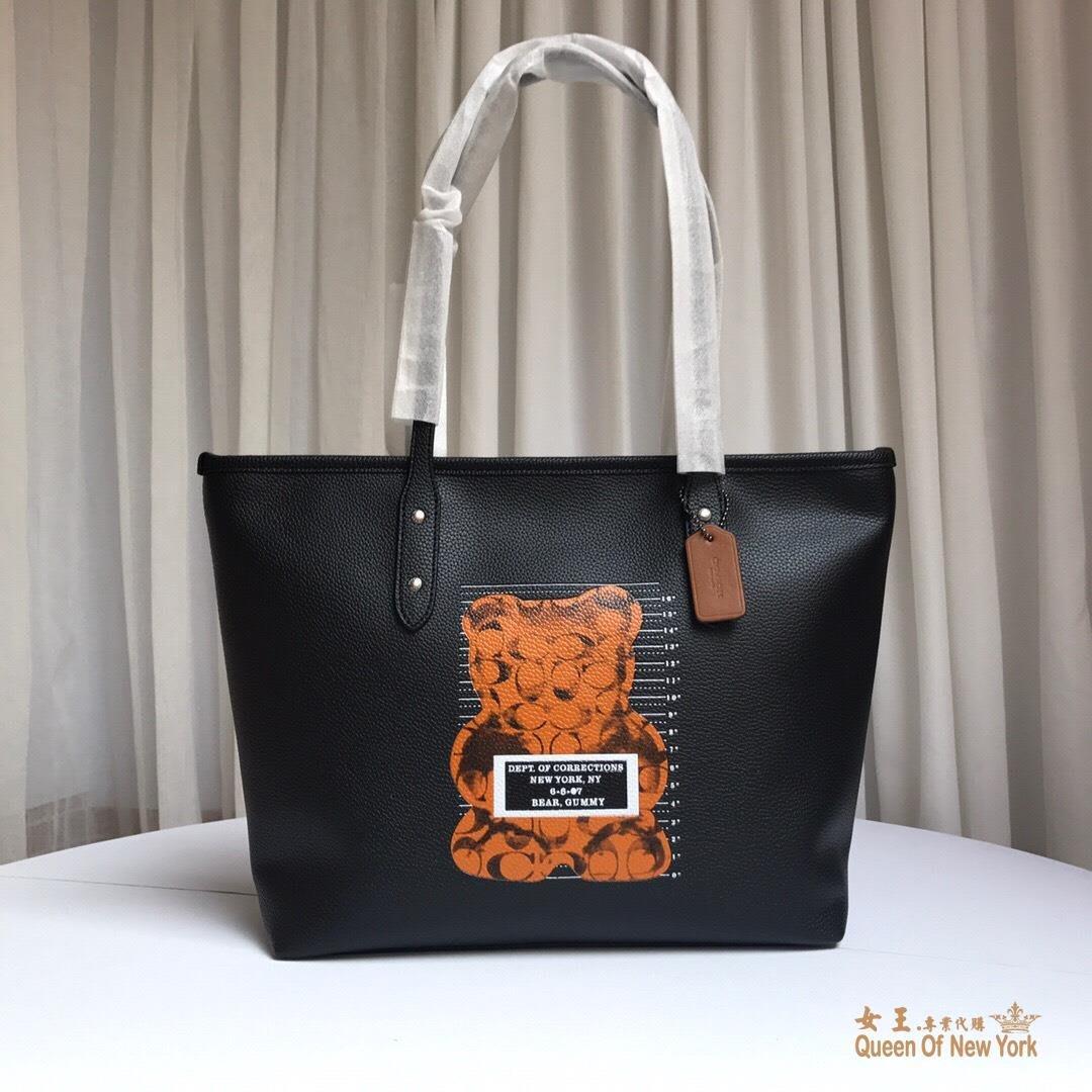 【紐約女王代購】COACH 寇馳 78203 新款暴力熊系列手提單肩包 購物袋原裝正品 美國代購