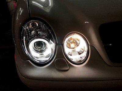☆雙魚座〃汽車精品〃BENZ W208 99~02 CLK 晶鑽光圈魚眼大燈 W208 大燈 CLK 大燈