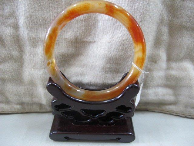二手舖 NO.982 天然玉石 紅玉髓手鐲 玉鐲 手環 玉環 首飾飾品