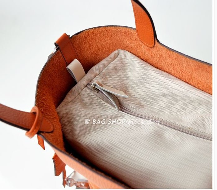 愛 BAG SHOP 現貨 PICOTIN LOCK可用 水桶包 真皮 夾層 收納包 中包內袋 Hermes Bolid
