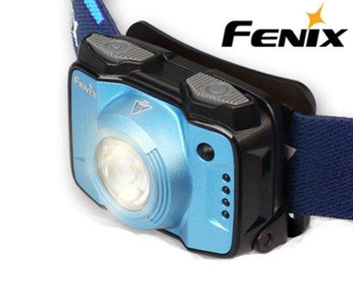 (登山屋)FENIX HL12R高性能戶外充電頭燈#藍色#灰色