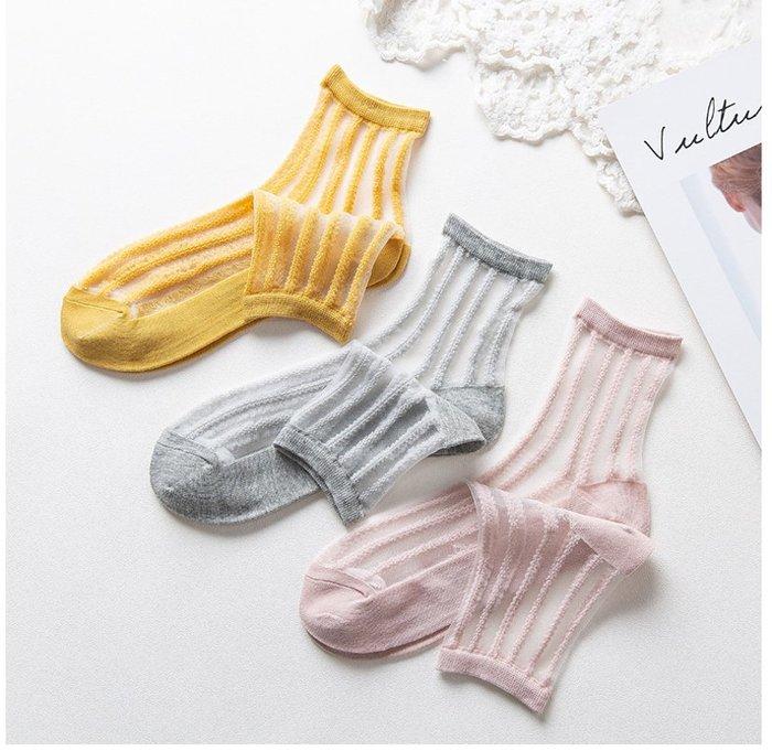 *╮S.water shop╭*  豎條紋 涼鞋襪短襪水晶襪玻璃絲襪  FN#00013-01共7色