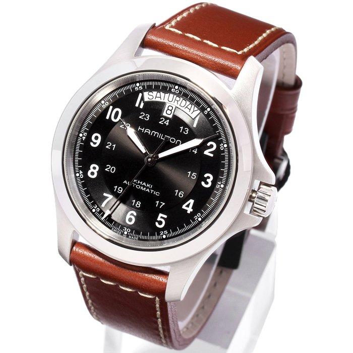 HAMILTON 漢米爾頓 H64455533 手錶 機械錶 40mm 日期星期顯示 黑面盤 男錶女錶