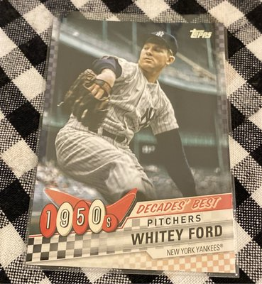 Whitey Ford 2020 Topps Update Series 1950s Decades' Best Pitchers DB-1
