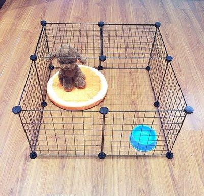 寵物室內承重鐵籠子中小型犬貓咪兔子小豬狗籠圍欄網格片拼接折疊