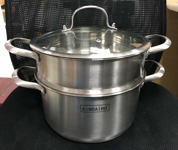 【無敵餐具】現貨-304不鏽鋼三層歐式雙耳鍋(24cm)雪平鍋/湯鍋/片手鍋/蒸煮鍋【G0085】