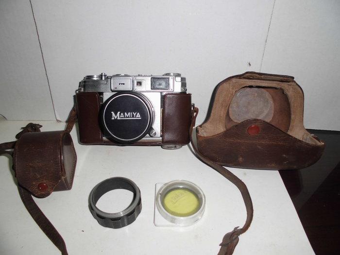 日本製MAMIYA-SEKOR古董相機(附大小真皮套)