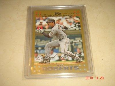 美國職棒 Dodgers Manager Dave Roberts 2007 Topps 1810/2007  球員卡