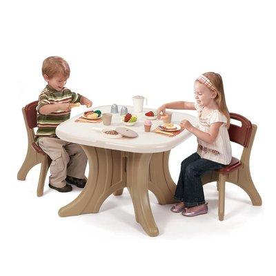 【晴晴百寶盒】美國進口桌椅組合-棕色STEP2 手眼協調角色扮演 辦家家酒 生日禮物益智遊戲玩具CP值高 品質W855
