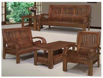 【夢網路家具】19B-樟木色107型木製沙發(全組)☆大台北都會區免運費☆