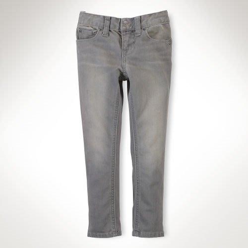 Polo Ralph Lauren 女孩Bowery Skinny 灰色牛仔褲(8號) (17321) ~全新正品
