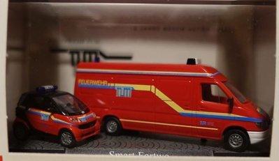 傑仲 博蘭 公司貨 BUSCH Smart Fortwo fire department 49933 HO