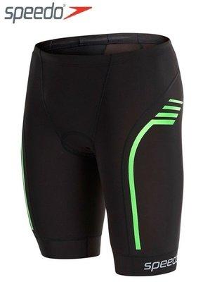 ~有氧小舖~SPEEDO新款 3T鐵人三項運動專用泳褲 三鐵短褲 Comp 三鐵衣 黑-綠