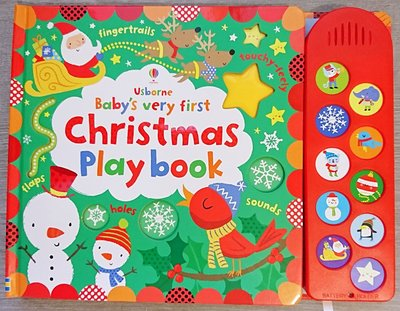 全新現貨 Baby's Very First Touchy-Feely Christmas Play Book 音效書