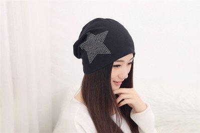 包頭帽頭巾帽時尚套頭帽韓版女帽堆堆帽月...