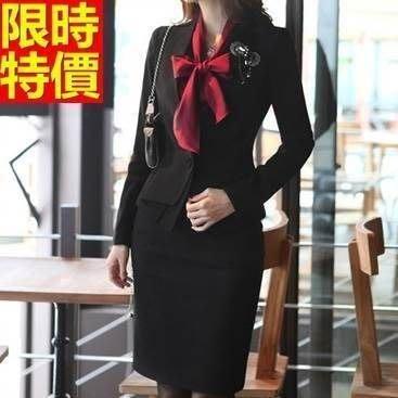 OL套裝 長袖裙裝辦公上班族商務-氣質修身端裝女西裝外套制服66x42[獨家進口][米蘭精品]