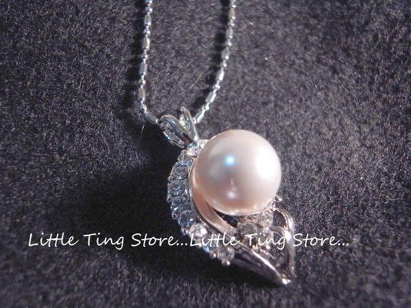 Little Ting Store:母親節禮物 12mm水滴款珍珠項鍊短項鍊頸鍊鎖骨鍊